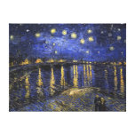 Vincent Van Gogh Starry Night Over The Rhone Stretched Canvas Prints