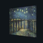 "Vincent van Gogh | Starry Night Over the Rhone Canvas Print<br><div class=""desc"">The Starry Night,  1888 