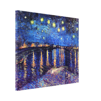 Vincent Van Gogh - Starry Night Over The Rhone Canvas Print