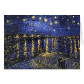 Vincent Van Gogh Starry Night Over The Rhone Stationery Note Card