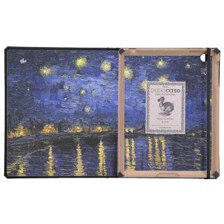 Vincent Van Gogh Starry Night Over The Rhone iPad Folio Case