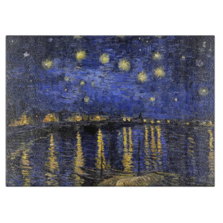 Vincent Van Gogh Starry Night Over The Rhone Cutting Board