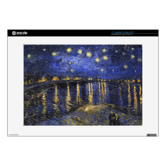 """Vincent Van Gogh Starry Night Over The Rhone Decal For 15"""" Laptop"""