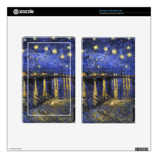 Vincent Van Gogh Starry Night Over The Rhone Decal For Kindle Fire