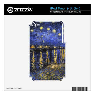 Vincent Van Gogh Starry Night Over The Rhone Decals For iPod Touch 4G