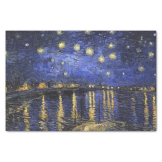 """Vincent Van Gogh Starry Night Over The Rhone 10"""" X 15"""" Tissue Paper"""