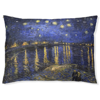Vincent Van Gogh Starry Night Over The Rhone Large Dog Bed