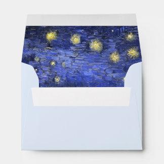 Vincent Van Gogh Starry Night Over The Rhone Envelope