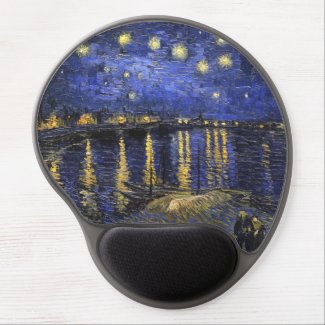 Vincent Van Gogh Starry Night Over The Rhone Gel Mouse Pad