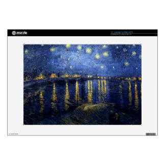 "Vincent Van Gogh Starry Night Over the Rhone Gifts Decals For 15"" Laptops"