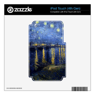 Vincent Van Gogh Starry Night Over the Rhone Gifts iPod Touch 4G Skin