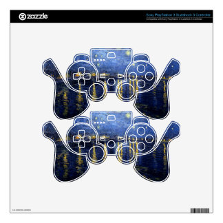Vincent Van Gogh Starry Night Over the Rhone Gifts PS3 Controller Decal