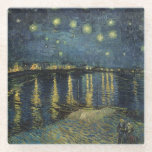 "Vincent van Gogh | Starry Night Over the Rhone Glass Coaster<br><div class=""desc"">The Starry Night,  1888 