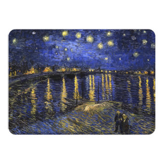 Vincent Van Gogh Starry Night Over The Rhone 4.5x6.25 Paper Invitation Card