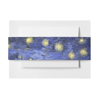 Vincent Van Gogh Starry Night Over The Rhone Invitation Belly Band