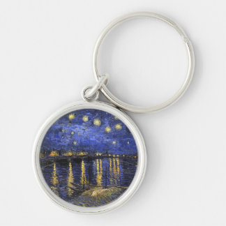 Vincent Van Gogh Starry Night Over The Rhone Keychain
