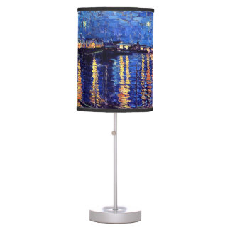 Vincent Van Gogh Starry Night Over The Rhone Table Lamps