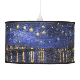 Vincent Van Gogh Starry Night Over The Rhone Pendant Lamp