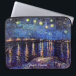 "Vincent van Gogh, Starry Night over the Rhone Laptop Sleeve<br><div class=""desc"">Vincent van Gogh,  Starry Night over the Rhone and  your choice of Starry Night.</div>"