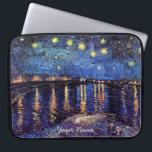 "Vincent van Gogh, Starry Night over the Rhone Laptop Sleeve<br><div class=""desc"">Vincent van Gogh,  Starry Night over the Rhone and  your choice of Starry Night.</div>"