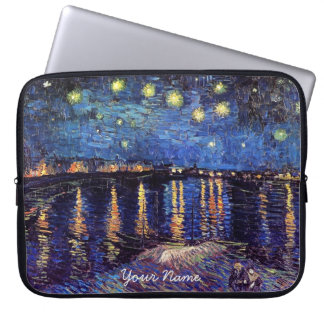 Vincent van Gogh, Starry Night over the Rhone Laptop Sleeve Case