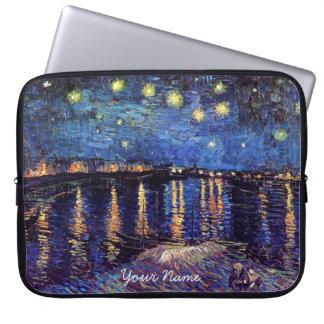 Vincent van Gogh, Starry Night over the Rhone Laptop Sleeve