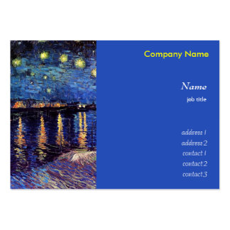 Vincent van Gogh, Starry Night over the Rhone Large Business Card