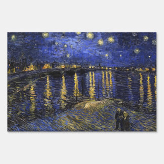 Vincent Van Gogh Starry Night Over The Rhone Lawn Signs