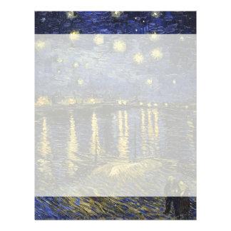 Vincent Van Gogh Starry Night Over The Rhone Letterhead