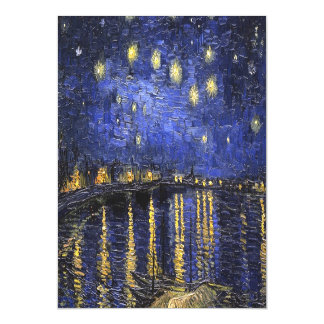 Vincent Van Gogh Starry Night Over The Rhone Magnetic Card