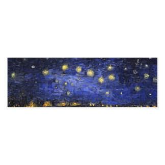 Vincent Van Gogh Starry Night Over The Rhone Mini Business Card