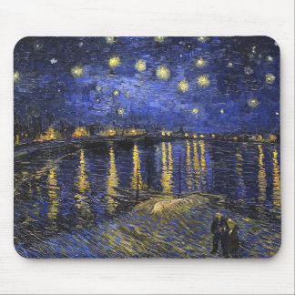 Vincent Van Gogh Starry Night Over The Rhone Mouse Pad