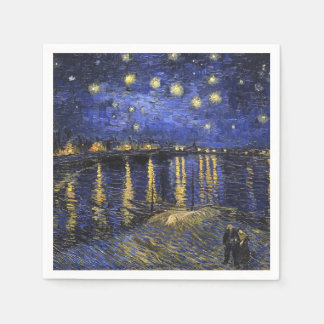 Vincent Van Gogh Starry Night Over The Rhone Napkin