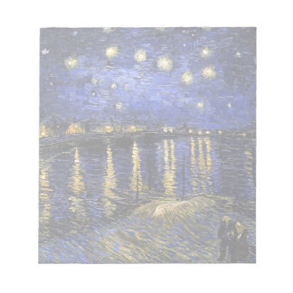 Vincent Van Gogh Starry Night Over The Rhone Notepad