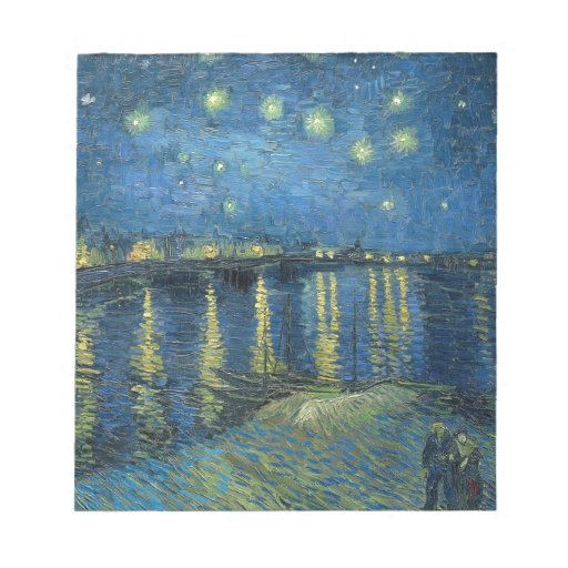 Vincent Van Gogh Starry Night Over the Rhone Memo Notepad
