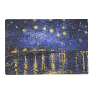 Vincent Van Gogh Starry Night Over The Rhone Laminated Place Mat