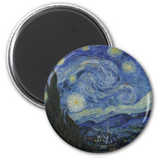 Vincent Van Gogh Starry Night Over The Rhone Paint Magnet