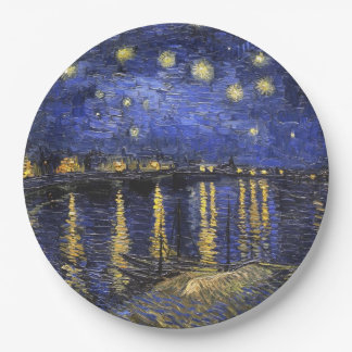 Vincent Van Gogh Starry Night Over The Rhone Paper Plate