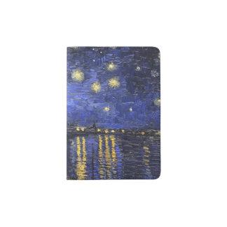 Vincent Van Gogh Starry Night Over The Rhone Passport Holder