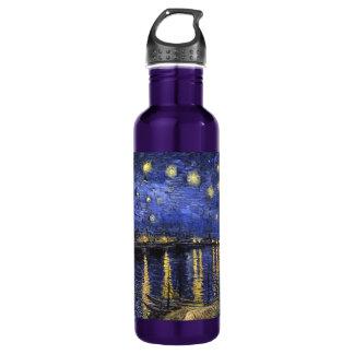 Vincent Van Gogh Starry Night Over The Rhone 24oz Water Bottle