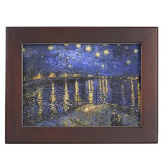 Vincent Van Gogh Starry Night Over The Rhone Keepsake Boxes