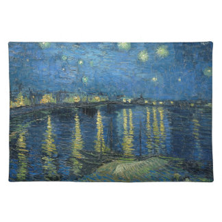 Vincent Van Gogh Starry Night Over the Rhone Cloth Place Mat