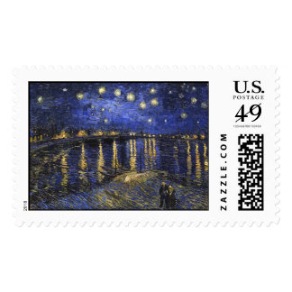 Vincent Van Gogh Starry Night Over The Rhone Postage Stamps