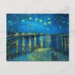 "Vincent Van Gogh Starry Night Over The Rhone Postcard<br><div class=""desc"">Vincent Van Gogh Starry Night Over The Rhone Postcard</div>"