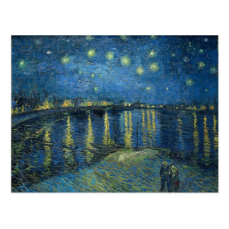 Vincent Van Gogh Starry Night Over the Rhone Post Card