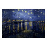 Vincent van Gogh - Starry Night Over the Rhone Poster