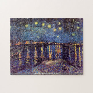 Vincent van Gogh - Starry night over the Rhone Puzzles