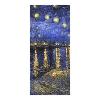Vincent Van Gogh Starry Night Over The Rhone Customized Rack Card