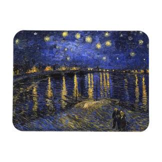 Vincent Van Gogh Starry Night Over The Rhone Rectangular Photo Magnet