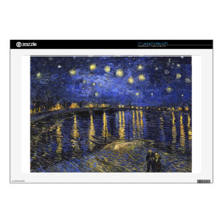Vincent Van Gogh Starry Night Over The Rhone Skin For Laptop